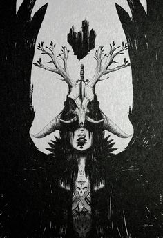 To Carry the Flame by Adam Rosenlund #illustration #drawing #dark