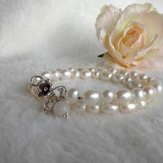 Wickelarmband Perlen Silber 925 Jade, Bracelets, Jewelry, Fashion, Gemstone Beads, Rhinestones, Bracelet, Florals, Moda