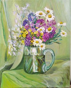 Alpine flowers 4, Oil Painting, Original Painting on canvas, Home Decor, Flowers, Wildflowers Alpine Flowers, Oil Painting On Canvas, Creative Gifts, Wildflowers, Original Paintings, Bouquet, Canvas Prints, Fine Art, The Originals