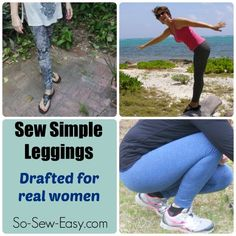 The Sew Simple Leggings pattern - drafted using the actual measurements of real women