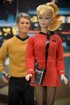 Barbie and Ken on the Enterprise
