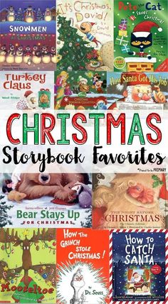 The ultimate list of the BEST Christmas storybooks for kids is HERE! It includes a mix of vintage, classic stories, as well as current authors and characters. Great books for Christmas speech therapy! Christmas Books For Kids, A Christmas Story, Christmas Themes, Christmas Holidays, White Christmas, Holiday Ideas, Christmas Plays, Xmas, Outdoor Christmas
