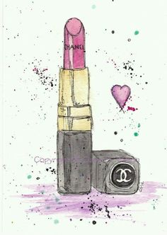 Chanel Lippy Illustration by Claires Wilson~❥ Art And Illustration, Illustrations, Arte Fashion, Fashion Design, Chanel Lipstick, Chanel Chanel, Art Paintings, Iphone Wallpaper, Art Drawings