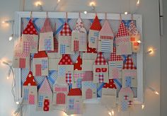 Little houses to be filled with love notes....  From Mamas Kram blog.