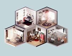 """Check out this @Behance project: """"Room of artist"""" https://www.behance.net/gallery/27292481/Room-of-artist"""