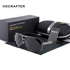 HDCRAFTER Moda UV400 Gafas de Sol de Los Hombres 2016 Nuevo Espejo Gafas de Sol gafas Para Los Hombres Con la caja de la Caja gafas de sol feminino ABS-3