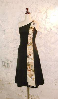 Kirikae黒留袖ドレス フロント