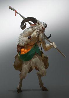 goatman [by Even Mehl Amundsen] Fantasy Magic, Fantasy Rpg, Fantasy Artwork, Mythological Creatures, Fantasy Creatures, Mythical Creatures, Creature Fantasy, Fantasy Character Design, Character Inspiration