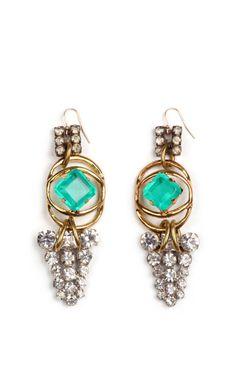 100 Year Earrings Featuring Vintage Parts From 1860-1960 by Lulu Frost - Moda Operandi