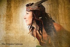 New Head Pieces coming to my etsy shop~  ~ Sanuye-Miwok- Red Cloud at Sundown~  Wings of flight leather headbands to be worn with grace and elegance through the moon lit darkness within us all —The Gypsies Caravan Designs~