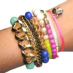 stack bracelets
