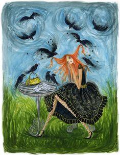 Garden Crows by Bella Pilar