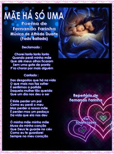 ♥ Molduras de Poemas de Fado ♥: Mãe há só uma (Amor de Mãe)