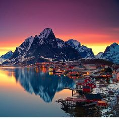 Lofoten, Norway. Some of the most beautiful places in the world, when covered in snow just seem that much more breathtaking.. Take your #BlohmVoss #superyacht for a cruise this winter and see for yourself. #ExpectTheExceptional