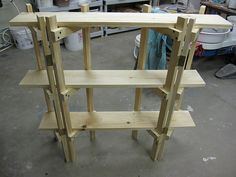 Craft Show Display Shelves | back view of shelf | craft show and display inspirations and ideas