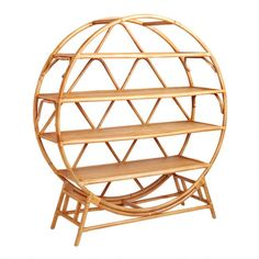 Round Natural Rattan Nylah Bookcase - v1 Unique Living Room Furniture, New Furniture, Natural Furniture, Apartment Furniture, Office Furniture, World Market Store, Wood Sideboard, Natural Honey, Shopping World