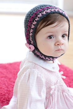 Beanie and Bonnet by Linda Permann from the new book Little Crochet: Modern Designs for Babies and Toddlers