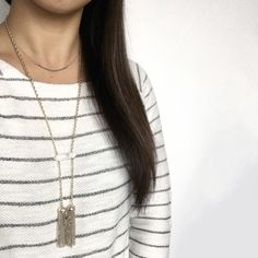 Marble Bar Tassel Pendant Necklace This gorgeous long necklace features a howlite stone with two gold tassels. Stone is natural so it has natural markings. Please note cover shot is layered with another necklace that is not included. This listing is for the marble tassel necklace. NWT and never worn. Jewelry Necklaces