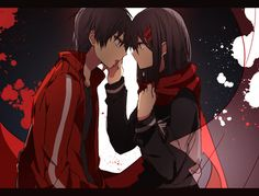 Ayano & Shintaro | Kagerou Project   Artwork by KUMA (click on the photo to visit the source!)
