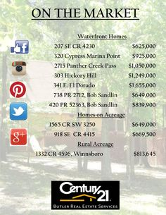 These fabulous listings are available today!  Call your #Century21ButlerRealEstate #agent today! #forsale #home
