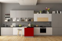 Knock Out The Knob-Less Cabinets - These Are The Worst Kitchen Trends Of All Time - Lonny Wood Kitchen Cabinets, Painting Kitchen Cabinets, Kitchen Countertops, Country Living Uk, Southern Living, Stainless Steel Contact Paper, Stick On Wallpaper, Smart Glass, Big Kitchen