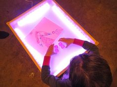 Make your own light-up table for kids