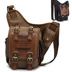 KAUKKO Men's Canvas Sling Bag