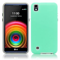 LG X Power / K210 / K6P Hybrid Silicone Case Cover Green