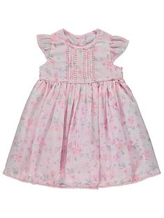 Floral Pleated Dress, read reviews and buy online at George at ASDA. Shop from our latest range in Baby. Brighten up their day with this gorgeous floral dres...