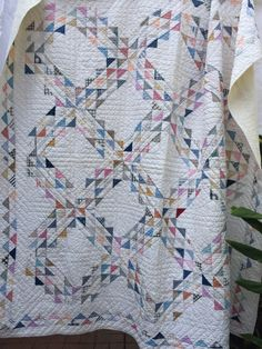 Old Quilts, Antique Quilts, Vintage Quilts, Vintage Textiles, Jellyroll Quilts, Scrappy Quilts, Texas Quilt, Ocean Quilt, Half Square Triangle Quilts