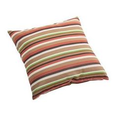 Zuo Modern Hamster Small Outdoor Pillow in Brown base multistripe