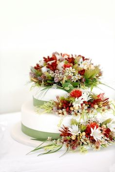 Flannel Flower and more Australian Native Blooms Wedding Cake Decorations, Wedding Cakes With Flowers, Wedding Bouquets, Fondant Flowers, Sugar Flowers, Flannel Flower, Australian Native Flowers, Native Australians, Golden Wedding Anniversary