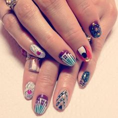 Check out these wild nails - they're wild, but I actually really like it & it still all goes together