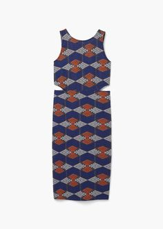 Kleid mit seitenschlitzen   MANGO