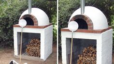 10 examples of pizza ovens to make - Modern Oven Diy, Diy Pizza Oven, Pizza Oven Outdoor, Pizza Ovens, Barbecue Four A Pizza, Barbecue Grill, Outdoor Kitchen Bars, Outdoor Dining, Outdoor Decor