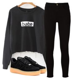 """""""Untitled #828"""" by aaisha123 ❤ liked on Polyvore featuring NIKE and Frame"""