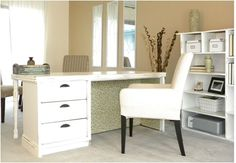 repurposed dresser into a desk, craft rooms home offices, design d cor, furniture furniture revivals, repurposing upcycling Old Furniture, Repurposed Furniture, Furniture Makeover, Painted Furniture, Desk Makeover, Dresser Repurposed, Desk Redo, Furniture Design, Refinished Furniture