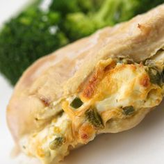 Chicken breasts stuffed with jalapeños and cream cheese.