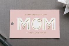 MOM Gift Tags by Lauren Chism at minted.com