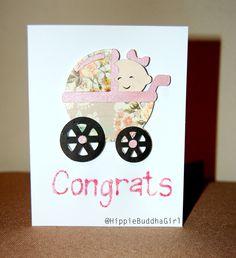 Baby card, handmade card