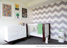 Bondville: Real Kids Room: grey chevron 2 year old boy's bedroom