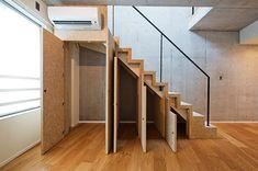 階段下収納 使い方 Staircase Storage, Stair Storage, Staircase Design, Style At Home, Outdoor Centre, Stairs In Living Room, Under Stairs Cupboard, Closet Designs, Common Area