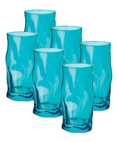 Take a look at this Sky Blue Sorgente Cooler Glass - Set of Six by Bormioli Rocco on #zulily today!