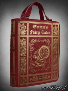 "Red BOOK bag ""GRIMM'S FAIRYTALES"" gothic lolita handbag"