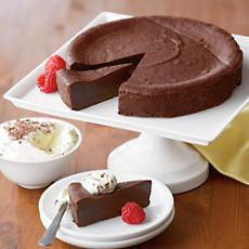 So decadent you can almost call it fudge. It's a simple recipe of dark chocolate, eggs, sugar and a little flour. That's all it takes to make this gourmet chocolate cake so rich and creamy you can't help but share. So go on. Share the decadence!