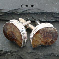Ammonite Cufflinks: Paul would stroke out!!