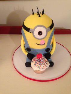 Minion cake, by Amy Hart