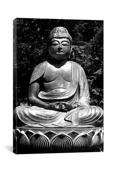 Canvas Print: Asian Buddha Canvas Giclee Art Print