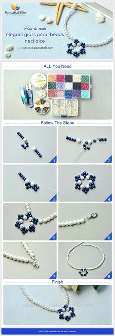 PandaHall Elite Craft Ideas on How to make necklace with glass pearl beads #pandahallelite #handmadenecklace #necklace #glassbeads #crafttutorial #necklacetutorial #pearlbeads