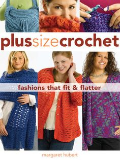 This #crochet book is great for the curvy girls! Get the Creative Publishing International book-Plus Size Crochet. Crochet the styles you love.